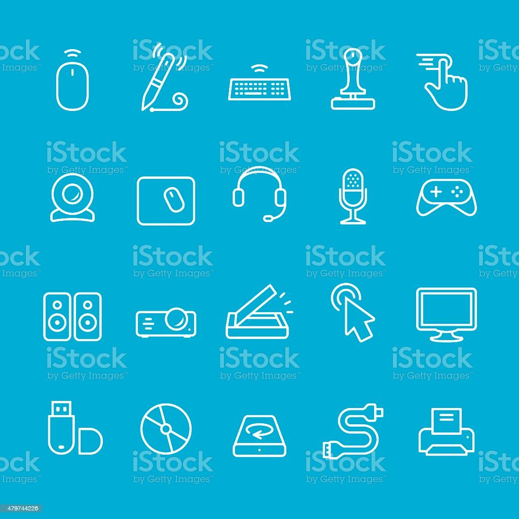 Input Device icons collection vector art illustration