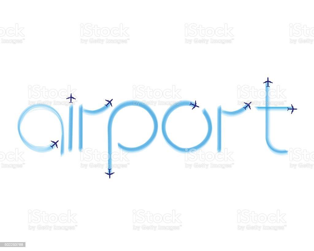 inscription airport vector art illustration