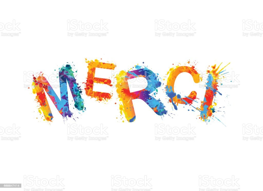 Inscription In French Thank You Stock Vector Art 688847414
