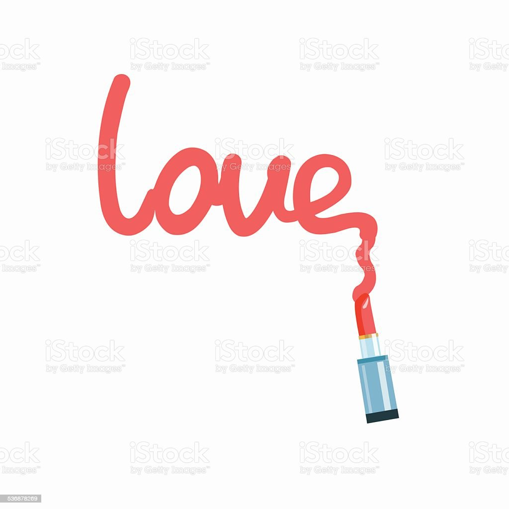 inscription love - Illustration royalty-free stock vector art
