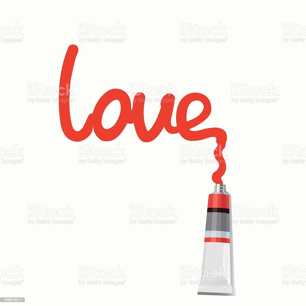 inscription love - Illustration royalty-free stock vector art