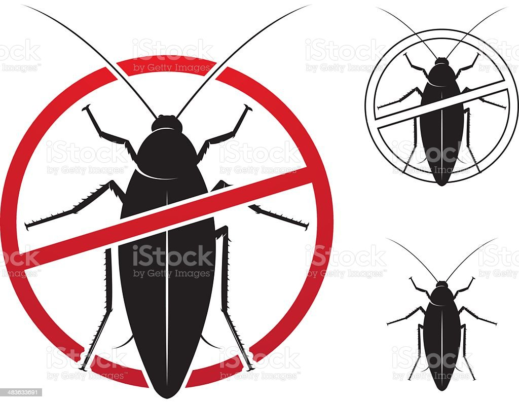 Insect extermination sign vector art illustration