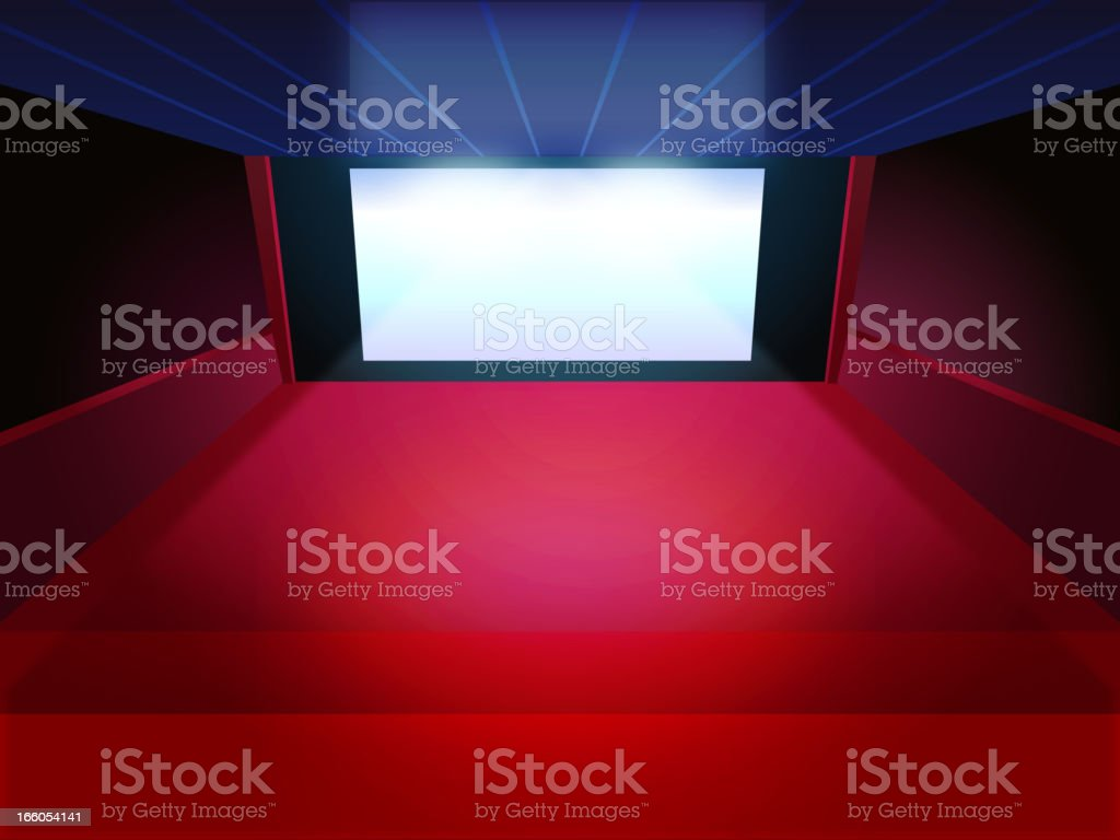 Inside a Movie Theater royalty-free stock vector art