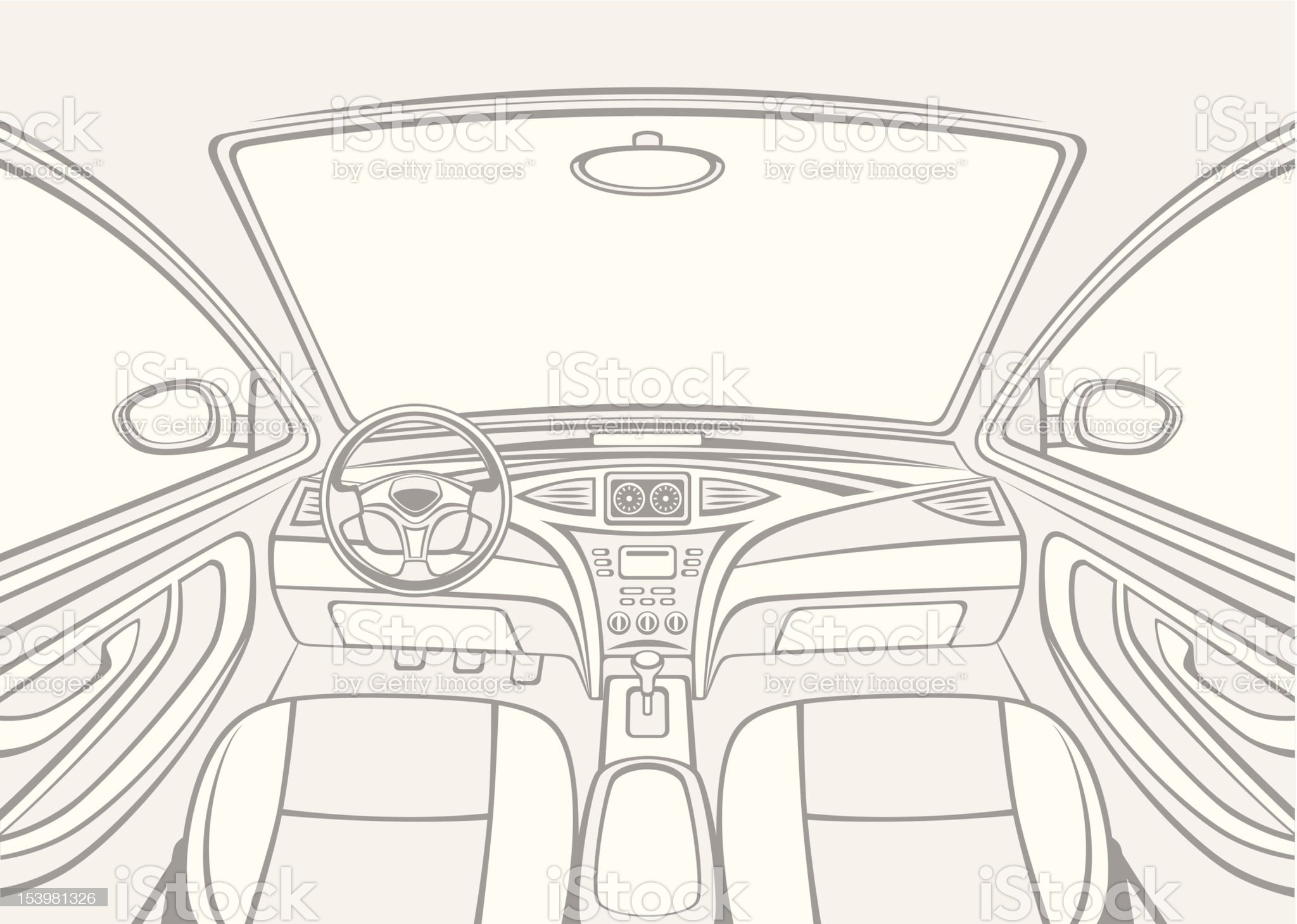 Inside car royalty-free stock vector art