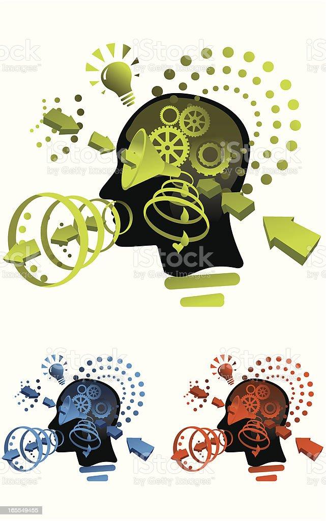 Inside My Head vector art illustration