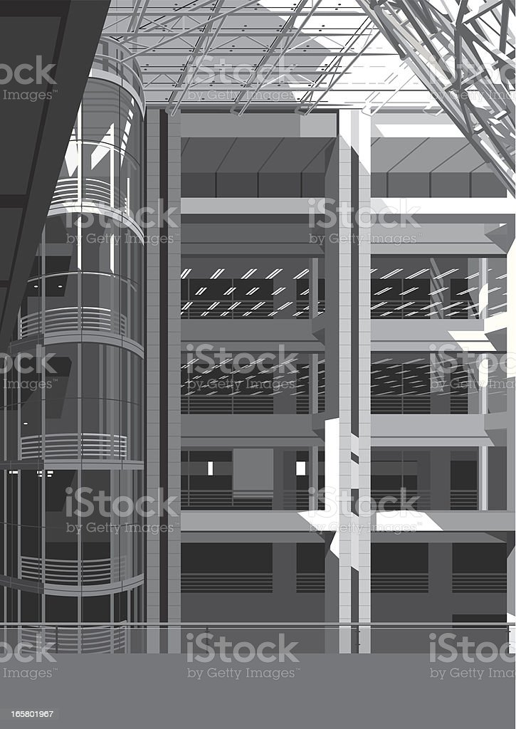 inside of modern building royalty-free stock vector art