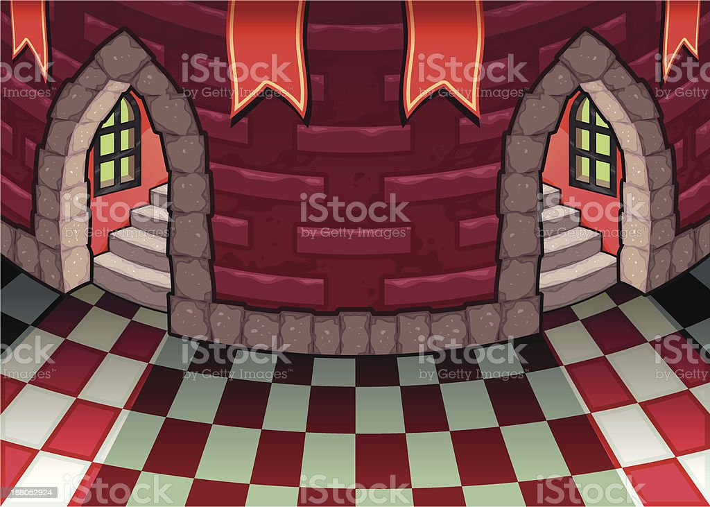 Inside the castle. royalty-free stock vector art