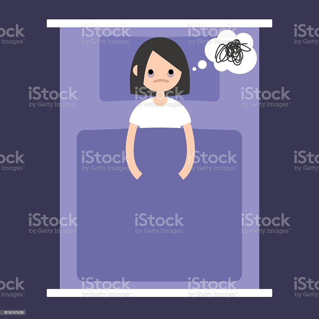 Insomnia conceptual illustration vector art illustration