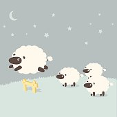 Insomnia: Sheeps leaping over the fence