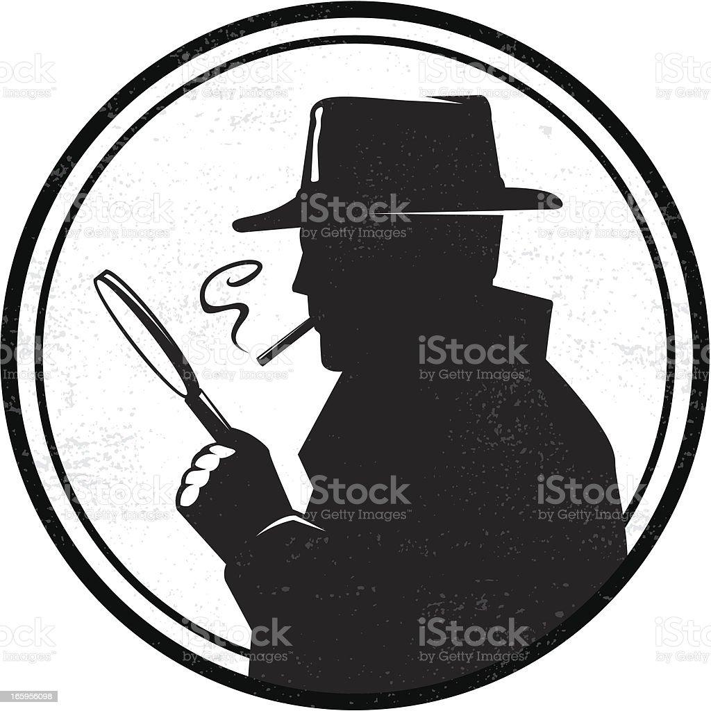 Inspector vector art illustration