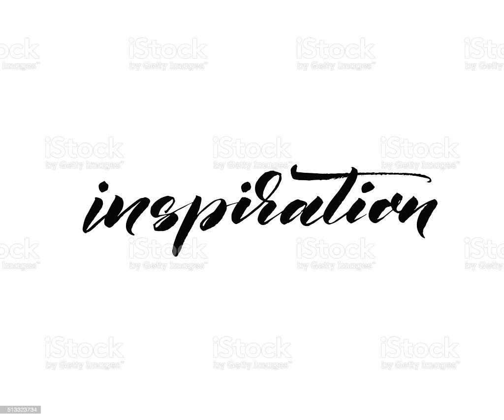 Inspiration card. vector art illustration