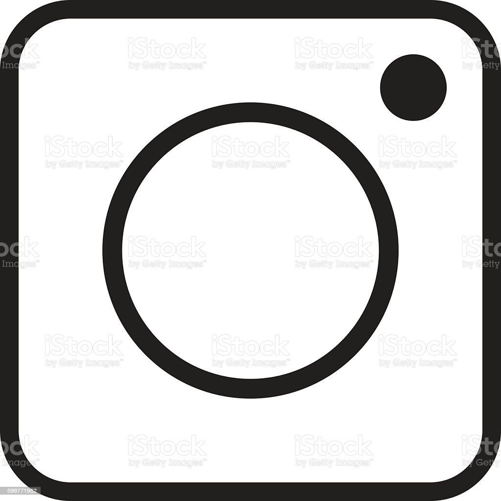 Instagram logo vector art illustration