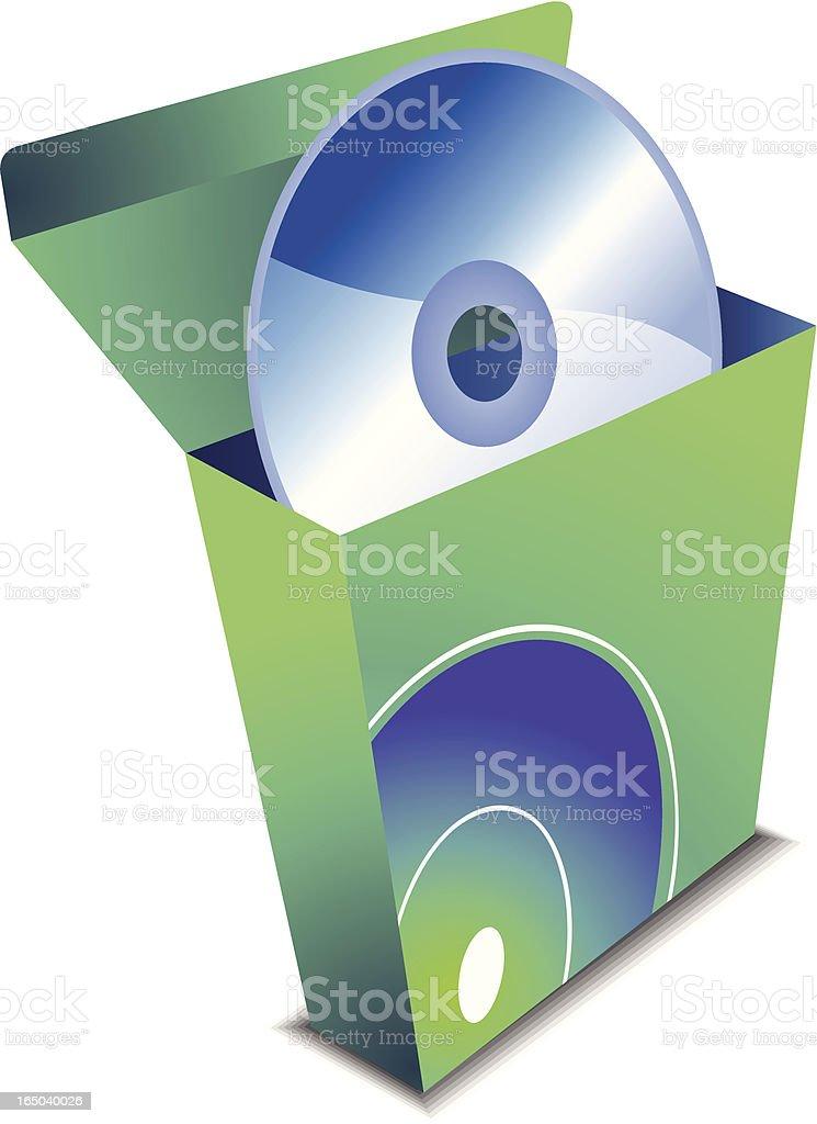 CD installer icon - vector royalty-free stock vector art