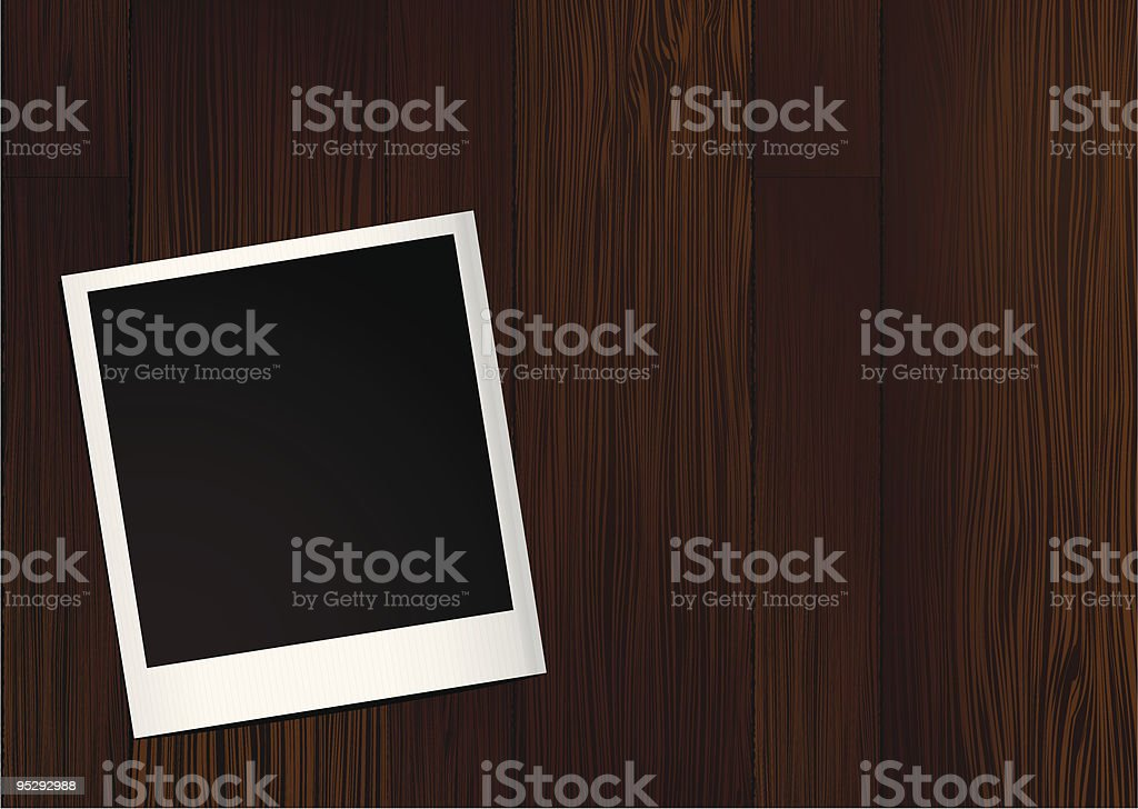 instant photo wood royalty-free stock vector art
