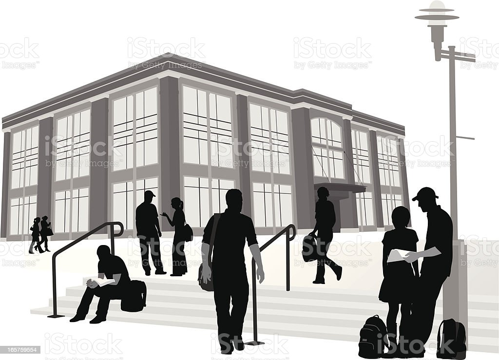 Institutions Vector Silhouette royalty-free stock vector art