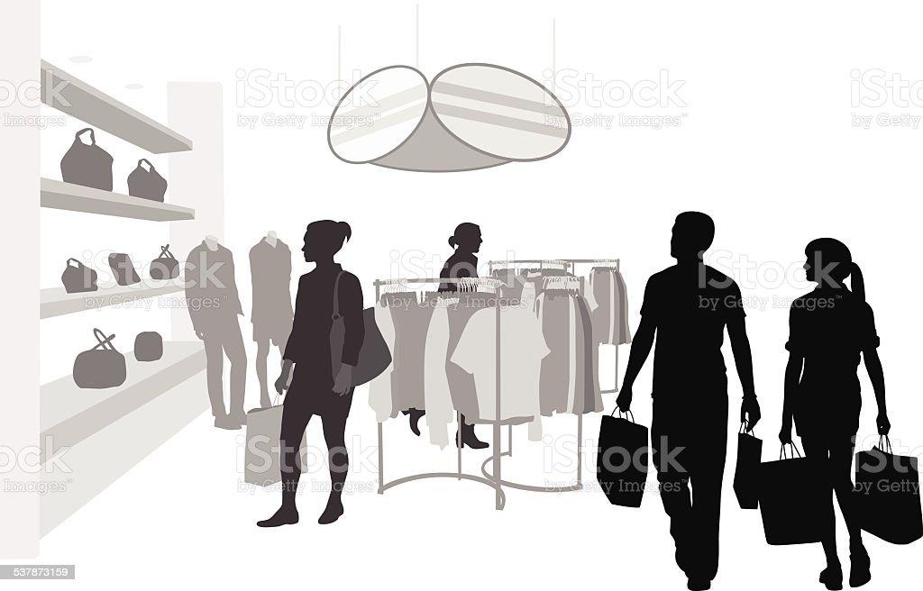 InStoreDisplays vector art illustration