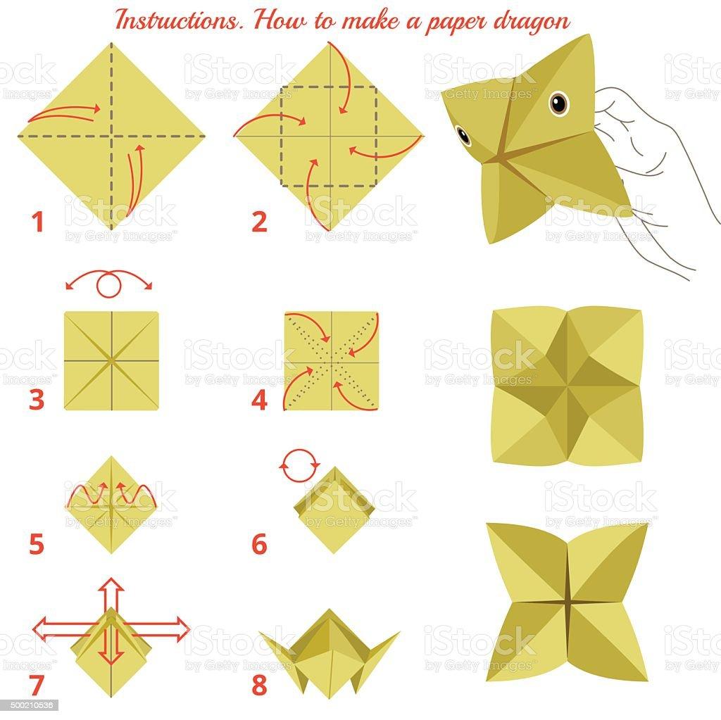 sobre cmo hacer papel de las aves juego de origami libre de derechos