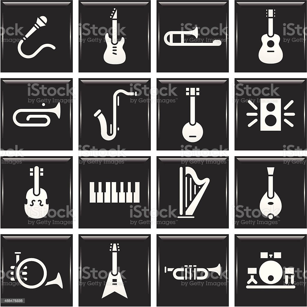 Instrument Icons royalty-free stock vector art