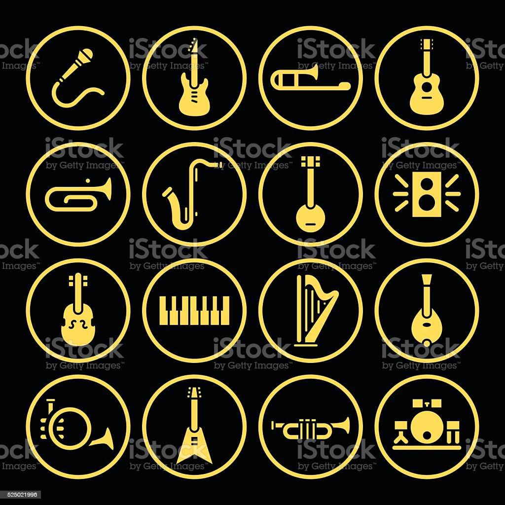 Instrument Icons vector art illustration
