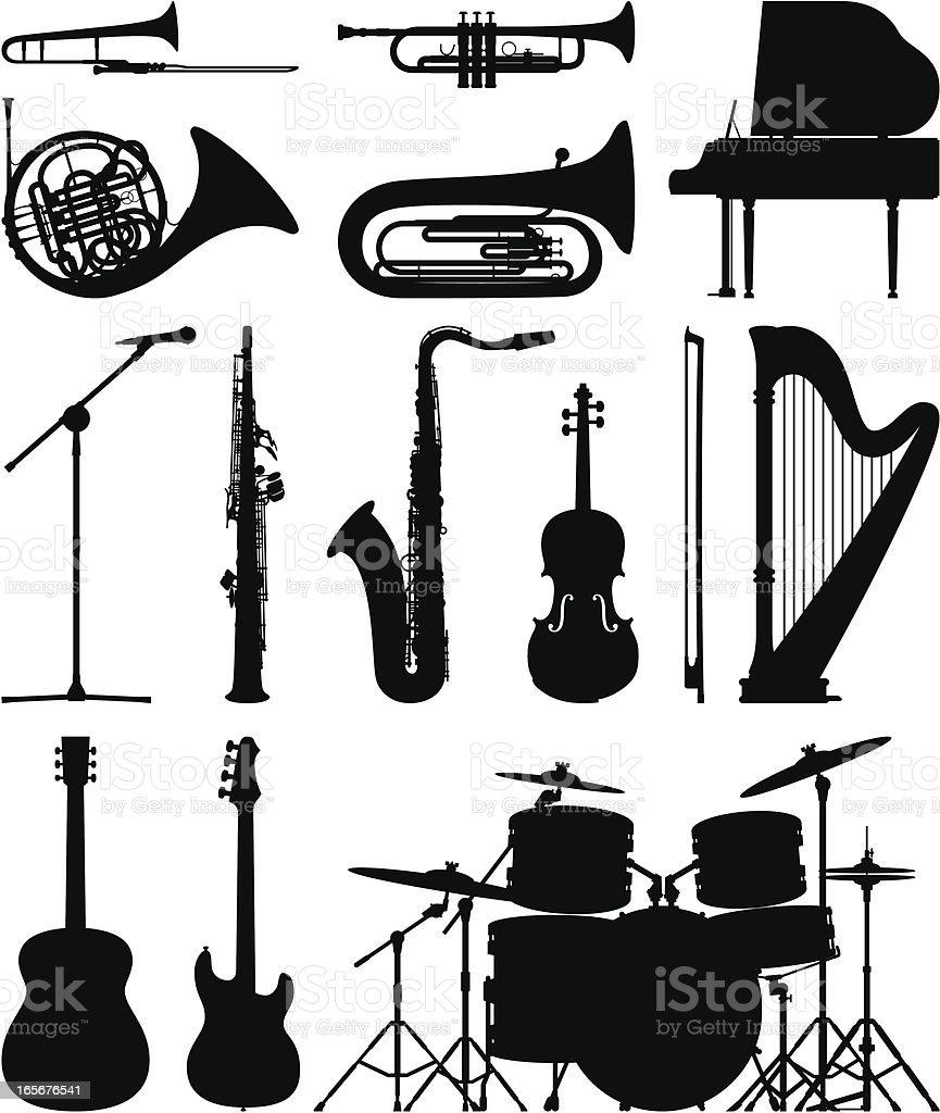 Instruments vector art illustration