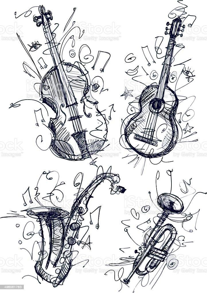 Instruments royalty-free stock vector art