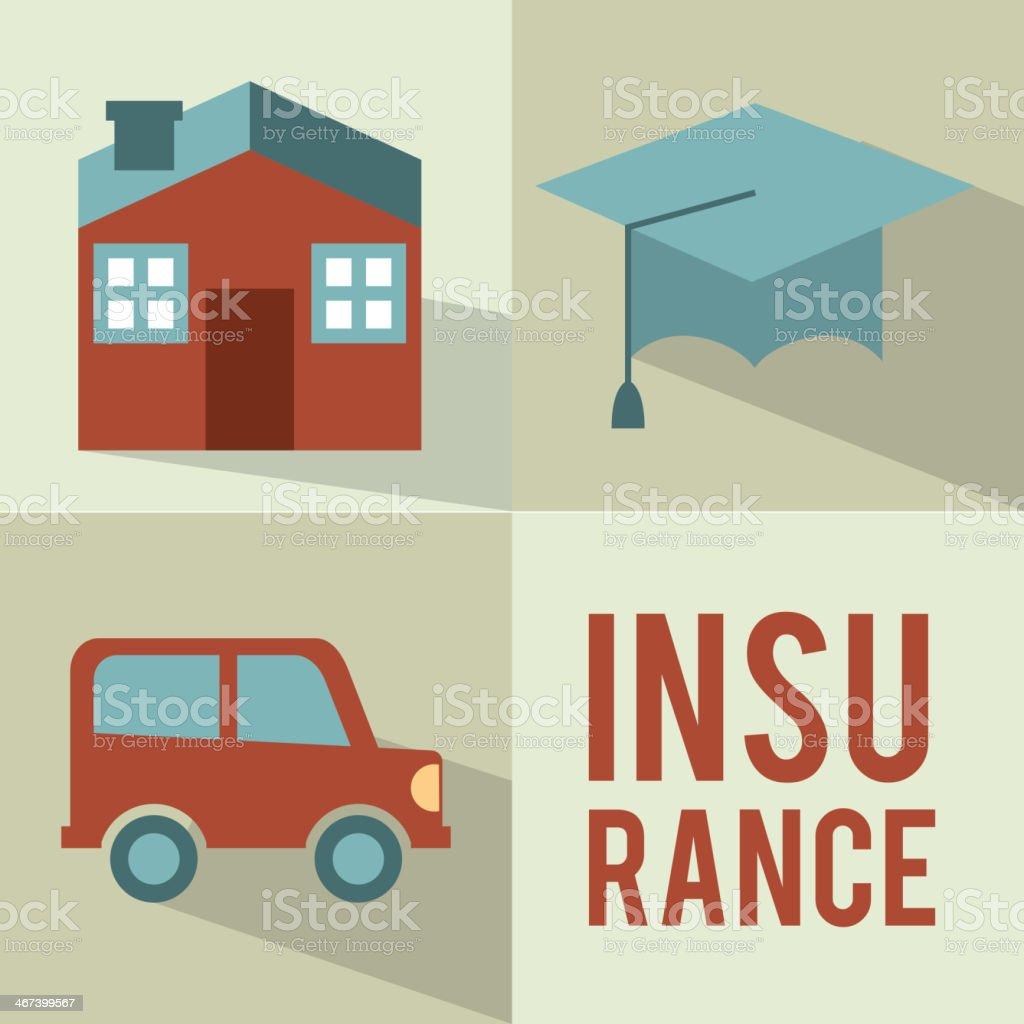 Insurance design royalty-free stock vector art