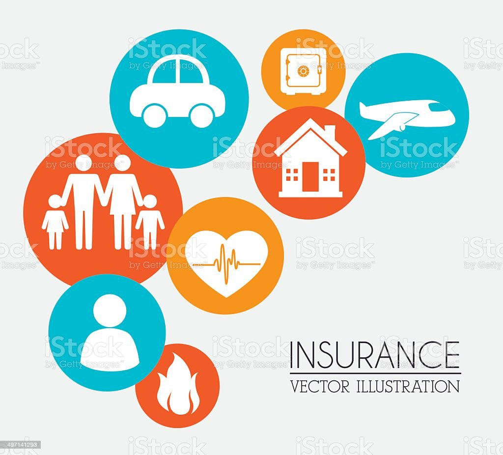 insurance design vector art illustration
