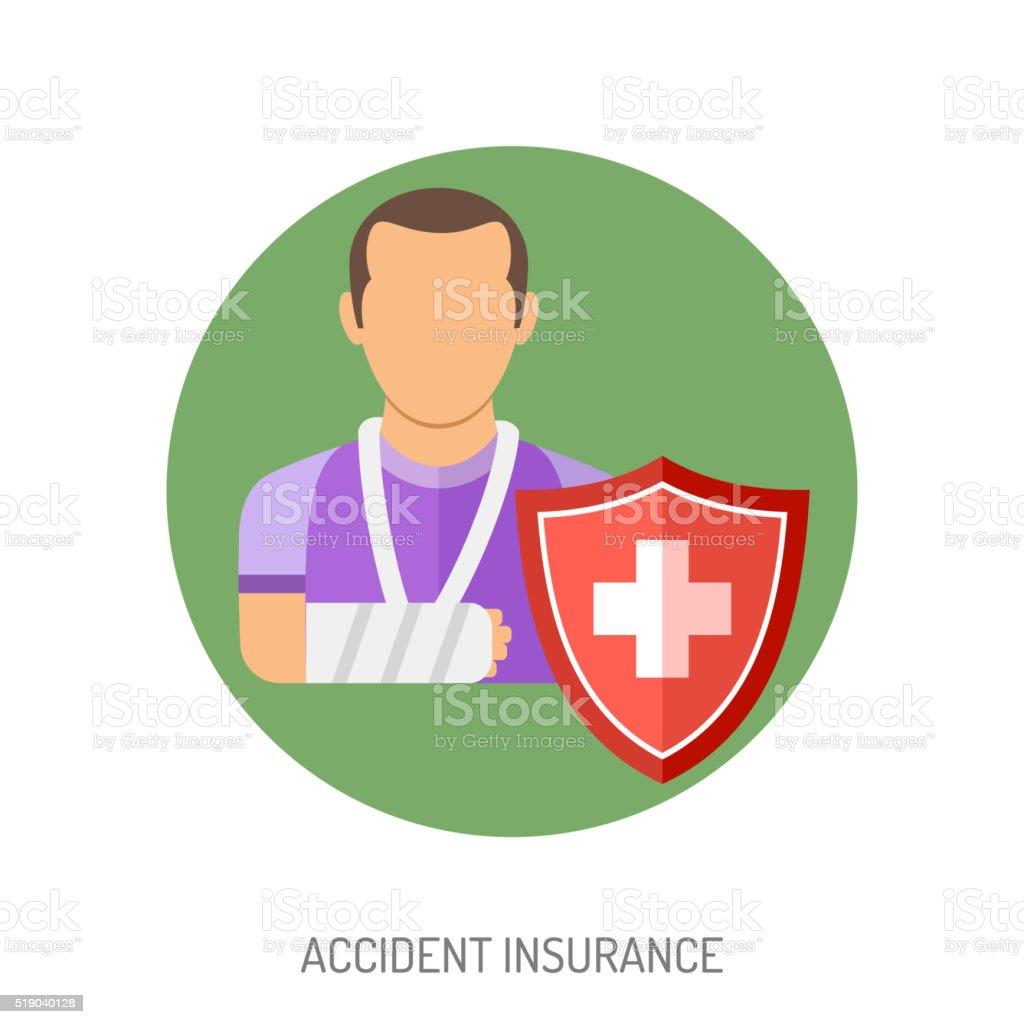 Insurance Flat Icons vector art illustration