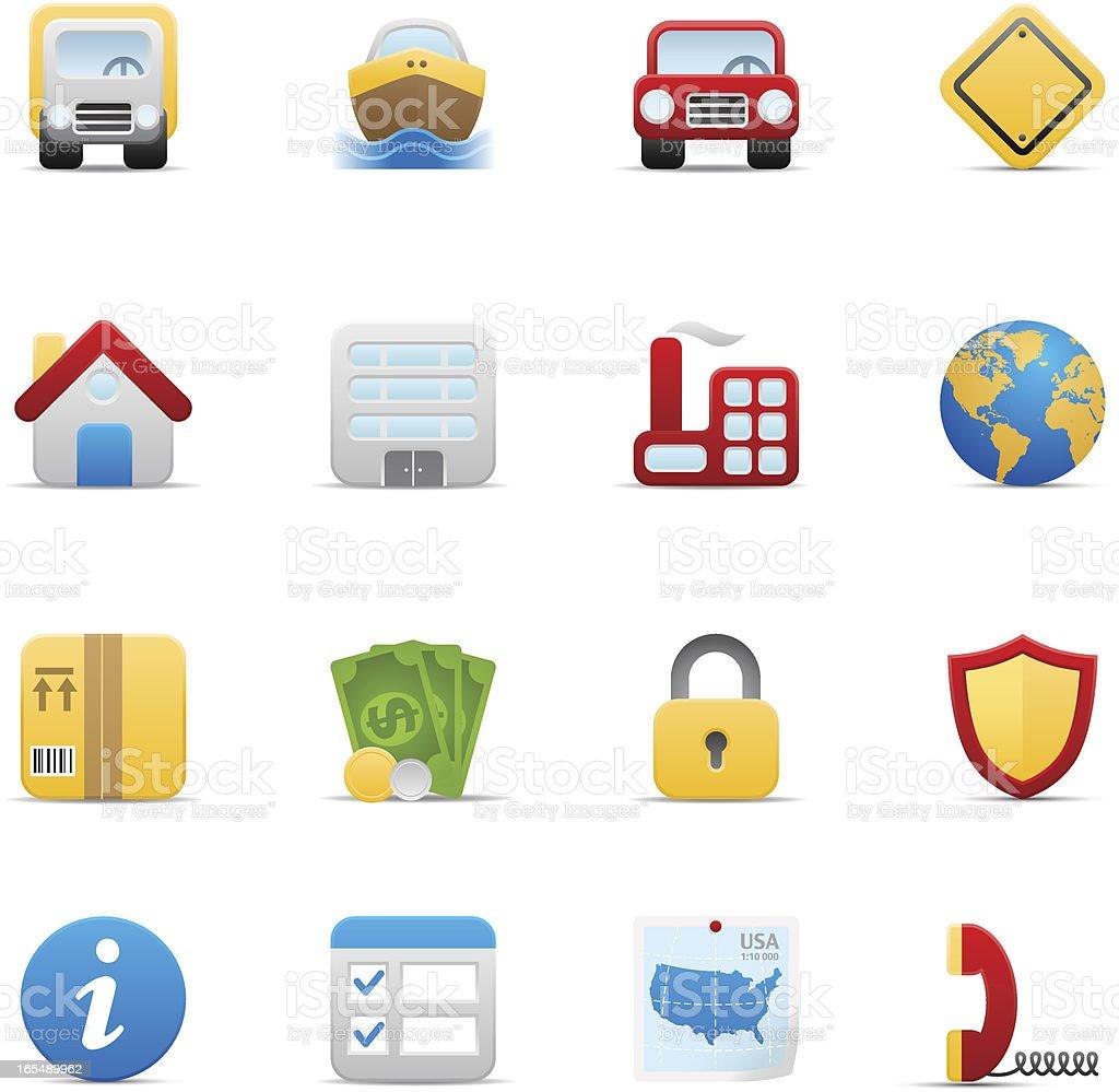 Insurance icon set. Soft series royalty-free stock vector art