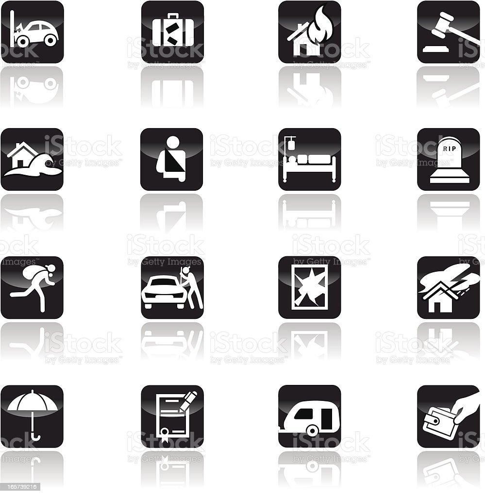 Insurance icon set royalty-free stock vector art