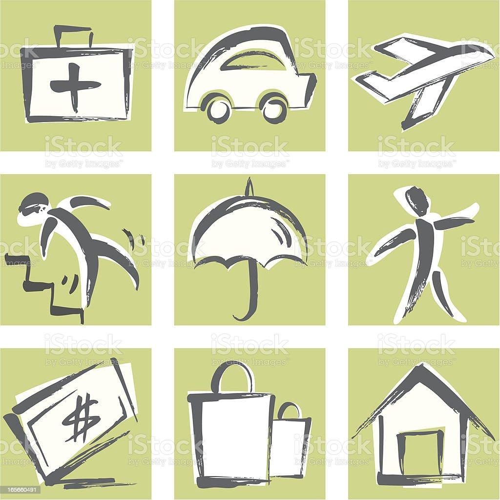 Insurance Icon royalty-free stock vector art