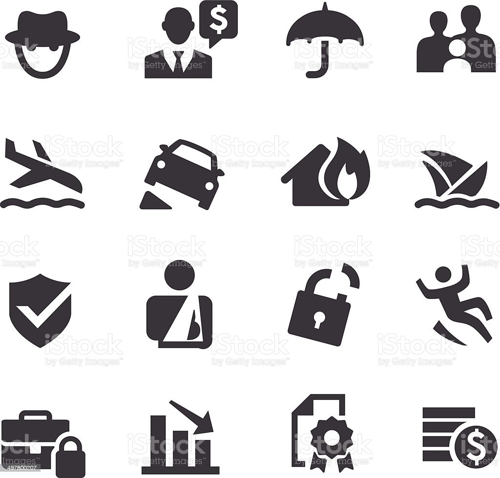 Insurance Icons - Acme Series vector art illustration