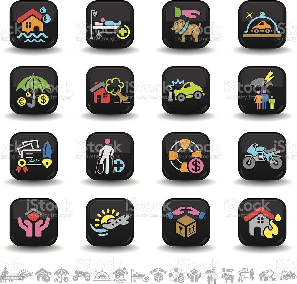 Insurance icons | bbton series vector art illustration