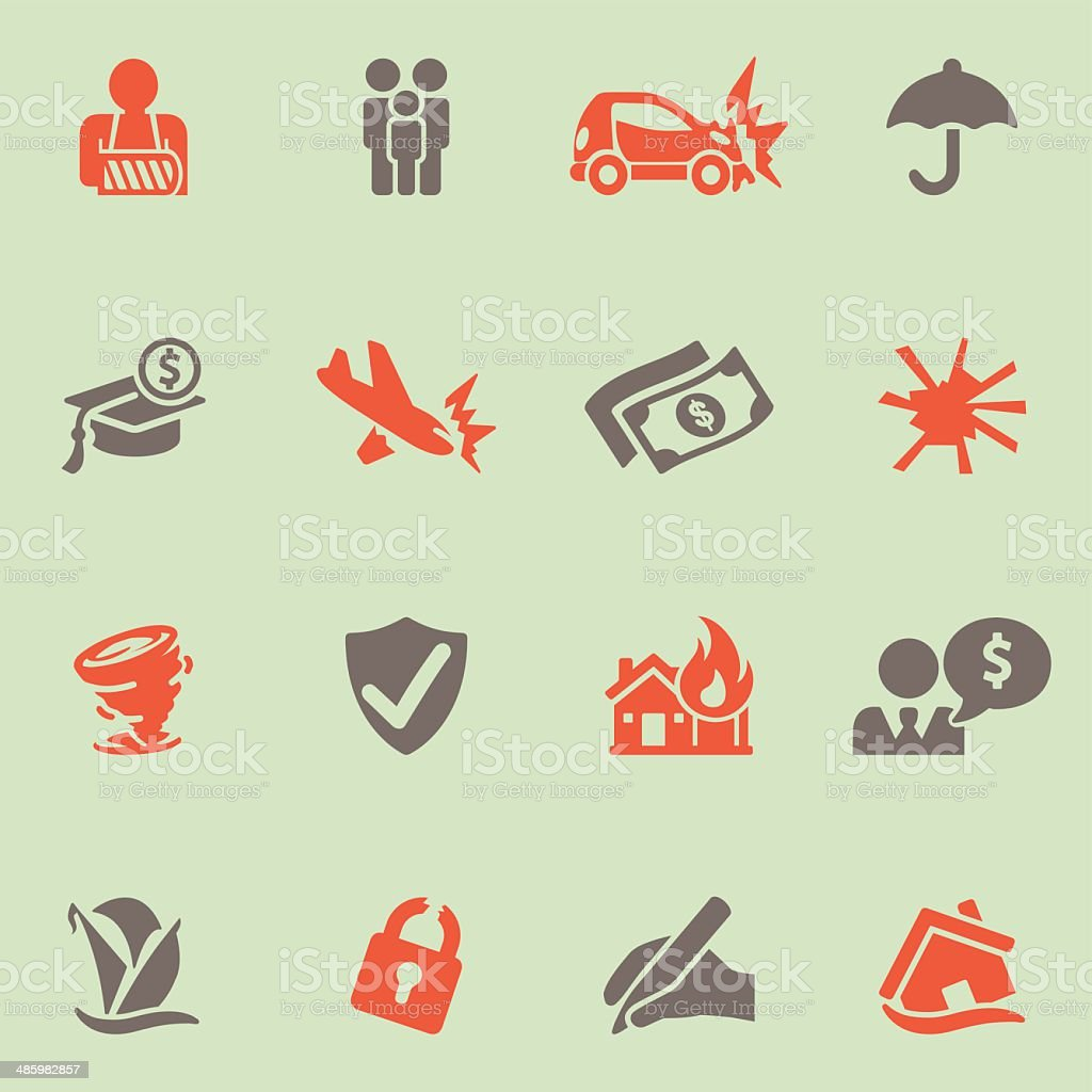 Insurance icons Color Series | EPS10 vector art illustration