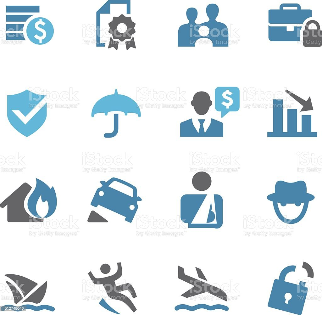 Insurance Icons - Conc Series vector art illustration