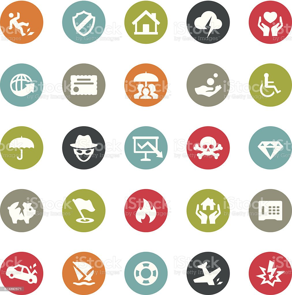 Insurance icons / Ringico series vector art illustration