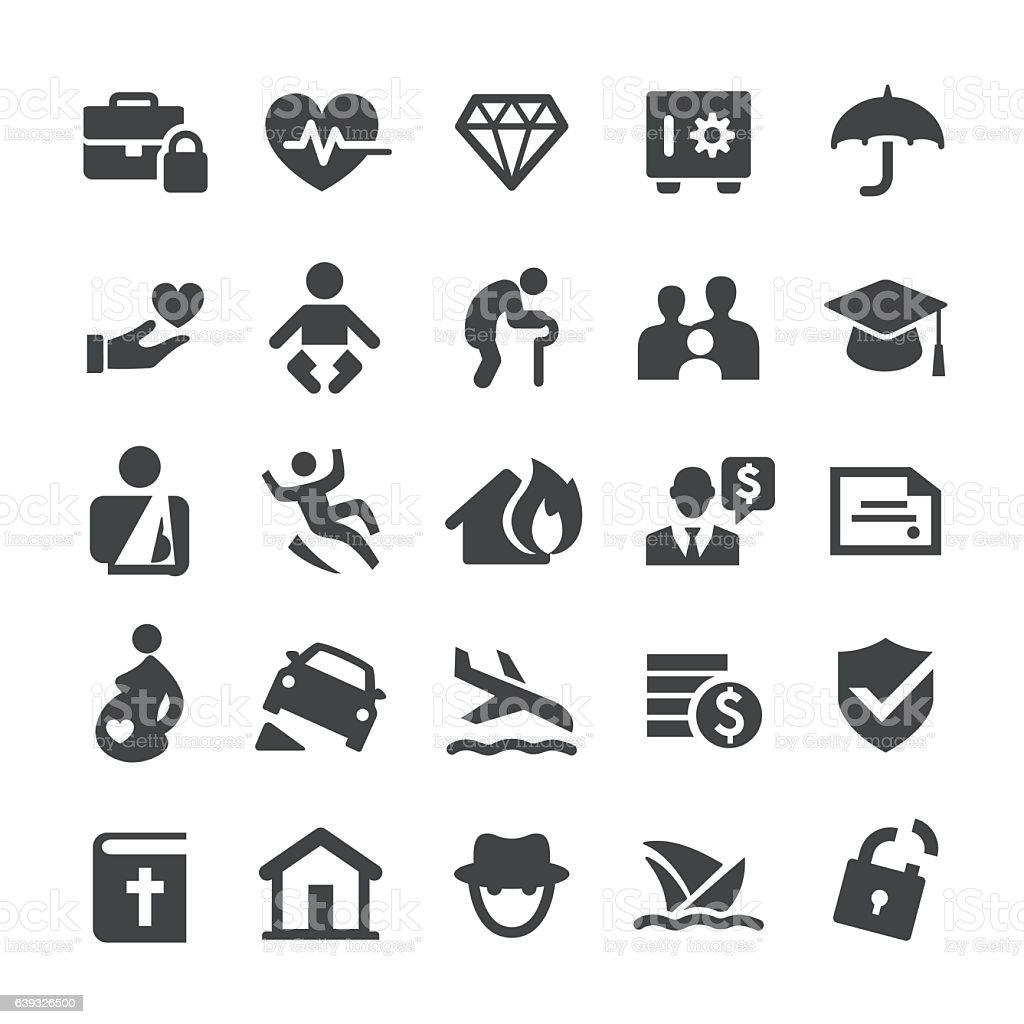 Insurance Icons - Smart Series vector art illustration