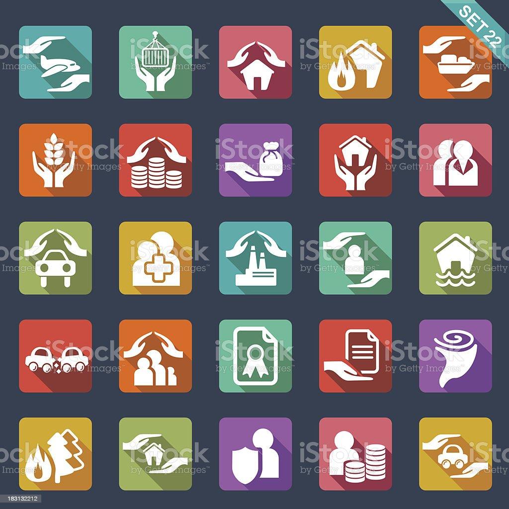 Insurance  icons royalty-free stock vector art