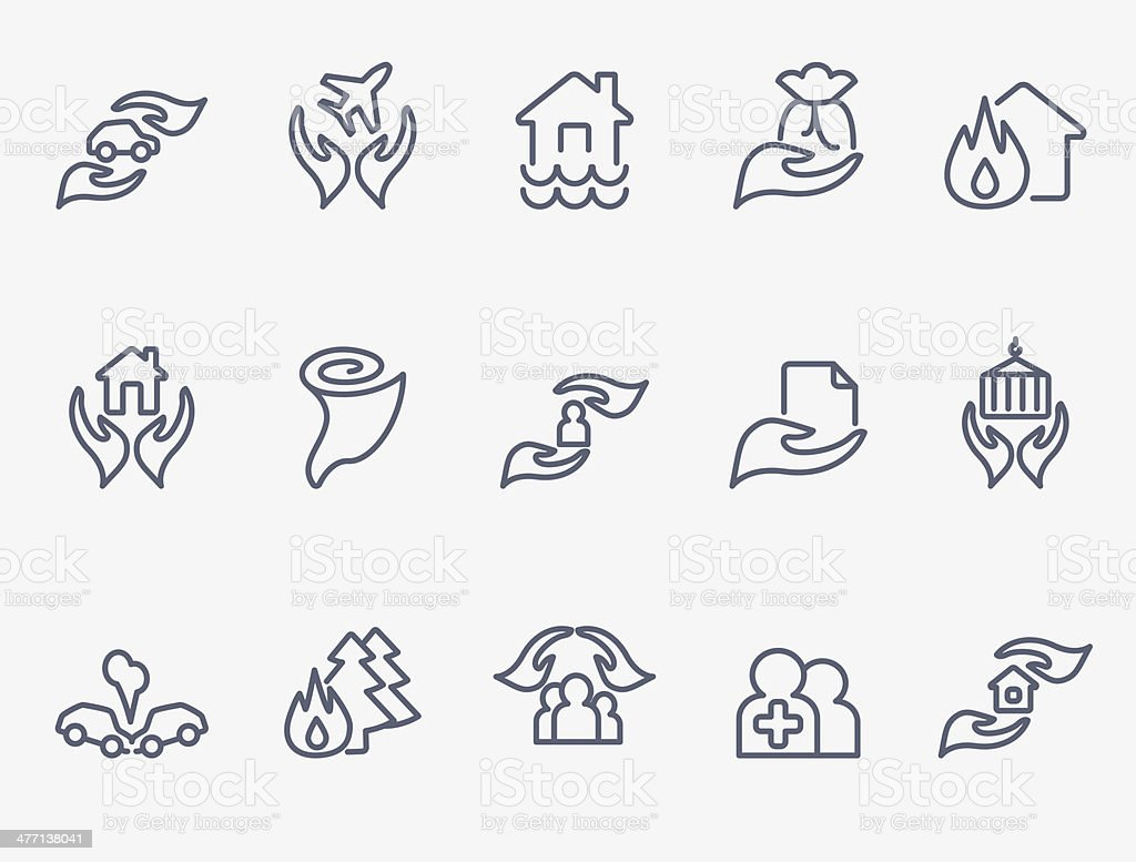 Insurance icons royalty-free stock vector art