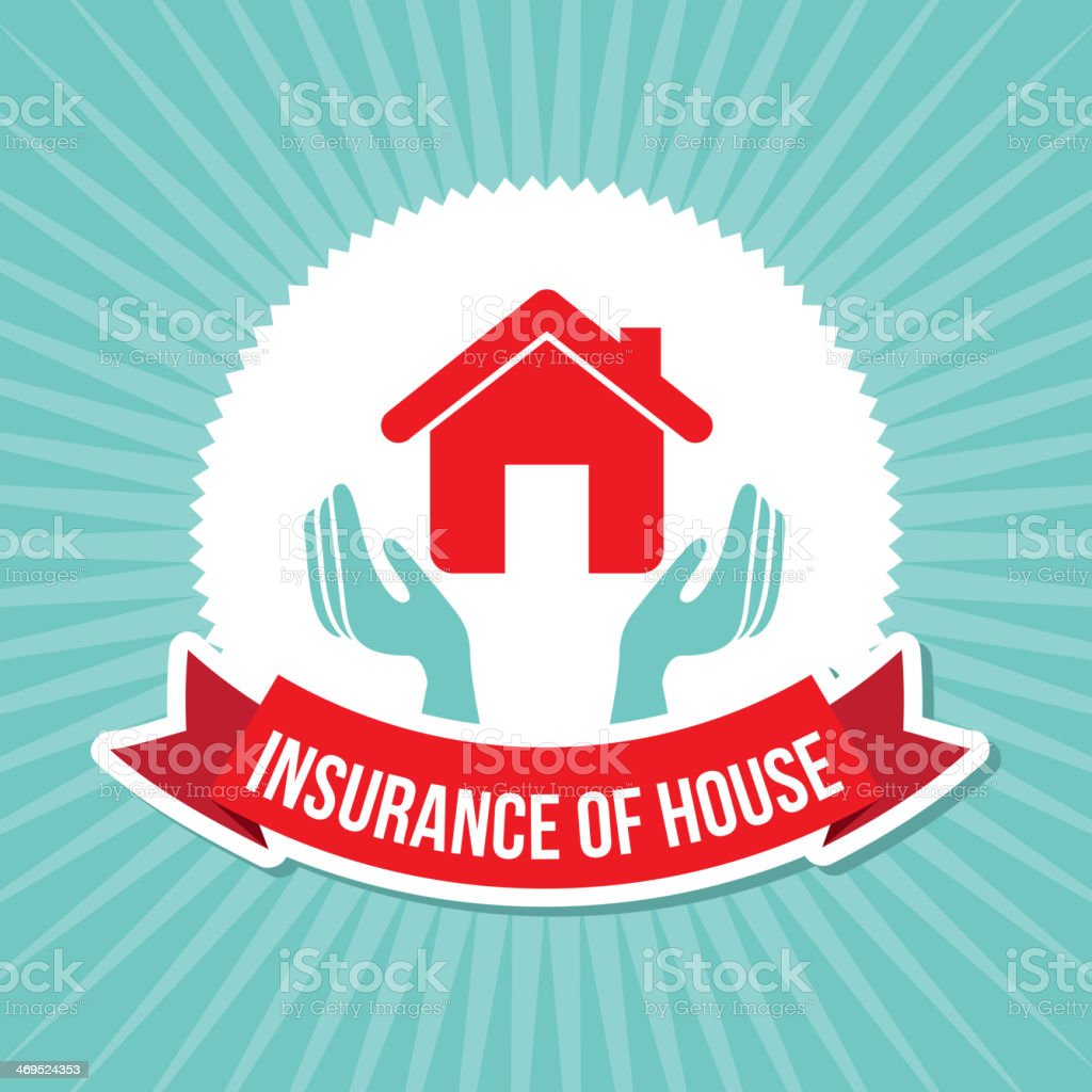 Insurance of House royalty-free stock vector art