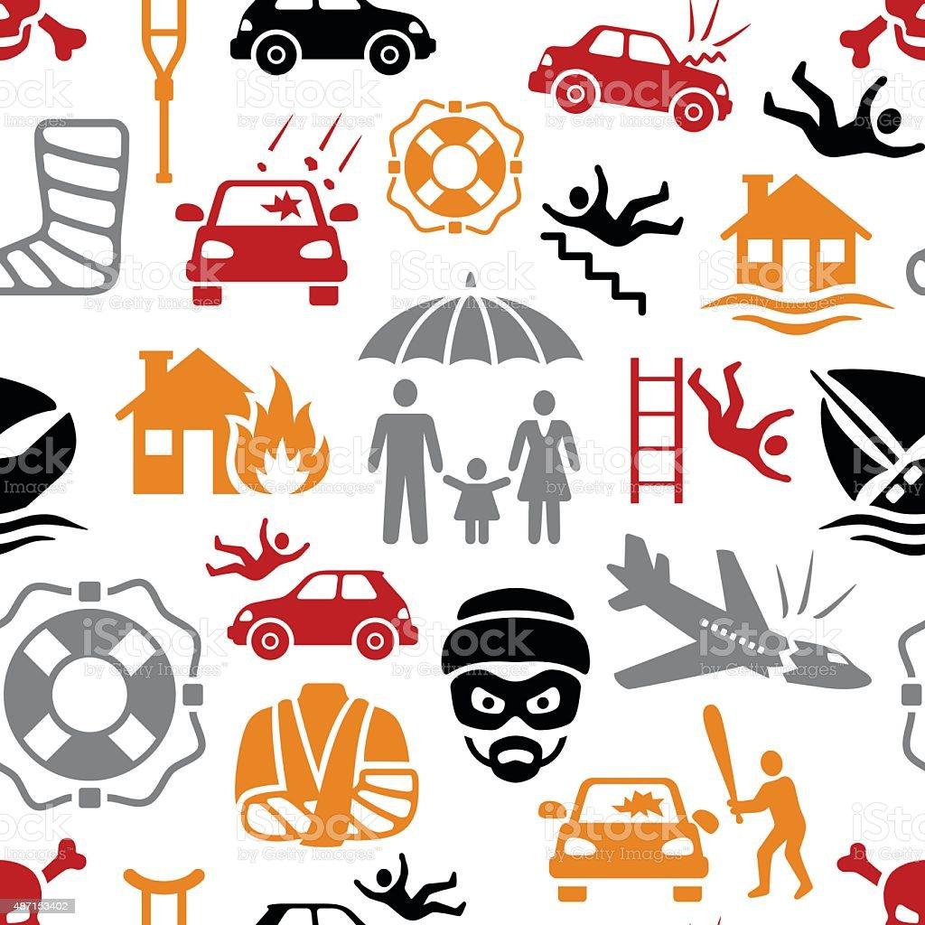 Insurance Pattern vector art illustration