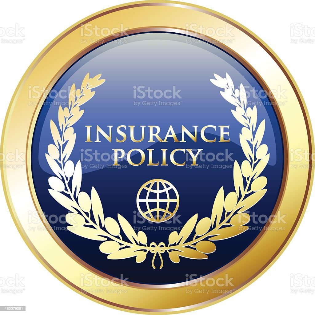 Insurance Policy Golden Shield royalty-free stock vector art