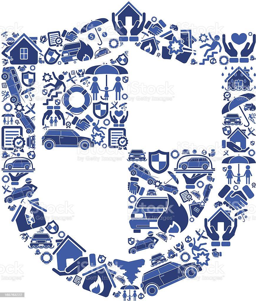 Insurance Shield royalty-free stock vector art