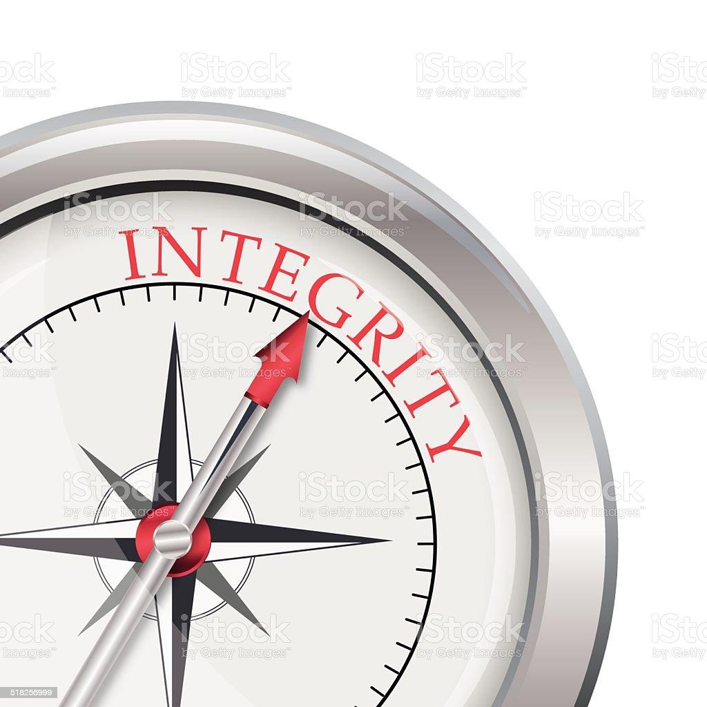 Integrity compass direction vector art illustration