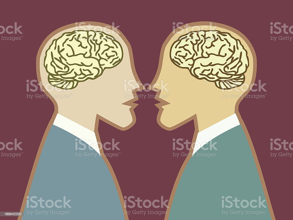 Intellectual Conversation royalty-free stock vector art