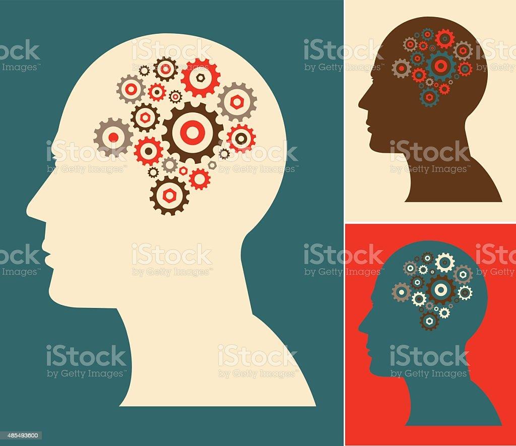 Intelligence vector art illustration