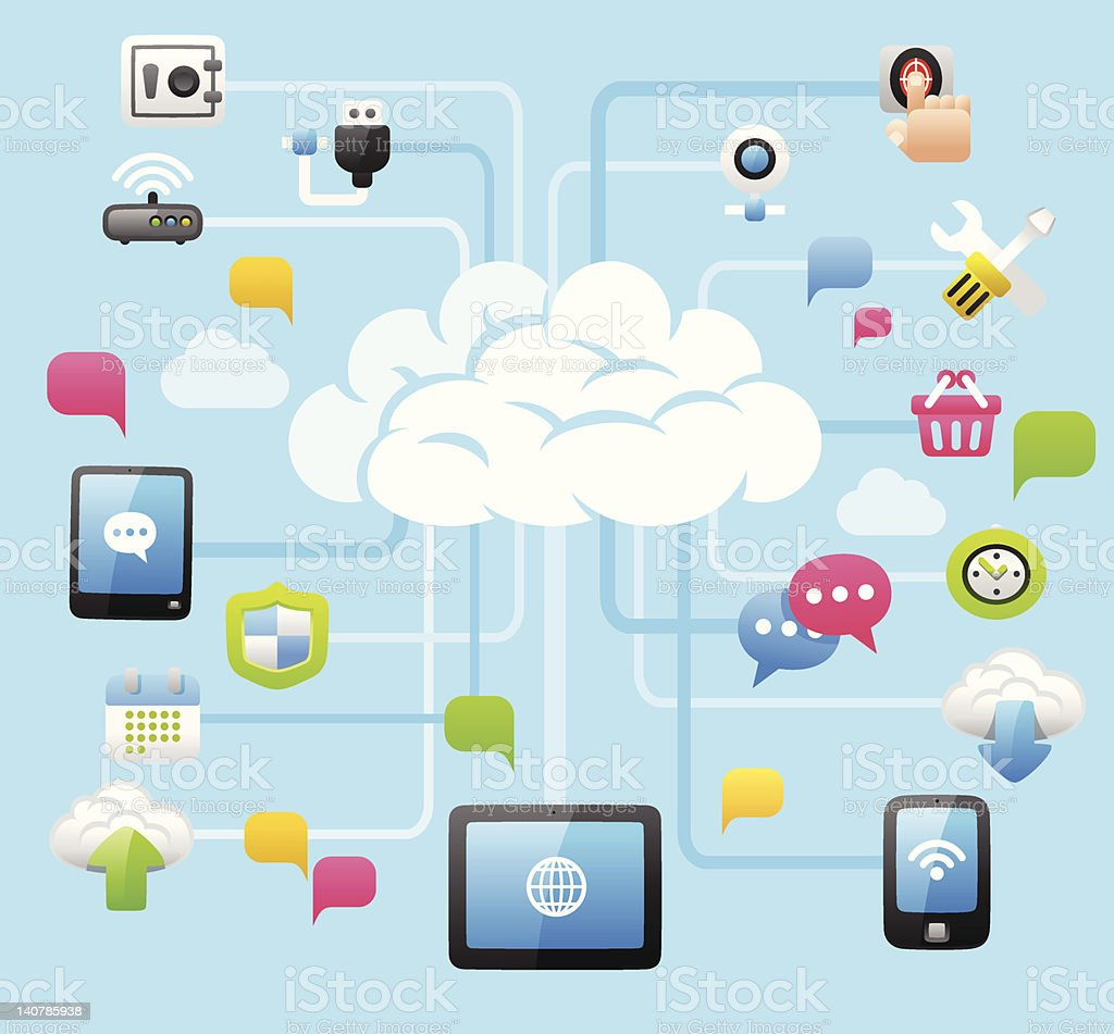 Intelligent Cloud Computing royalty-free stock vector art