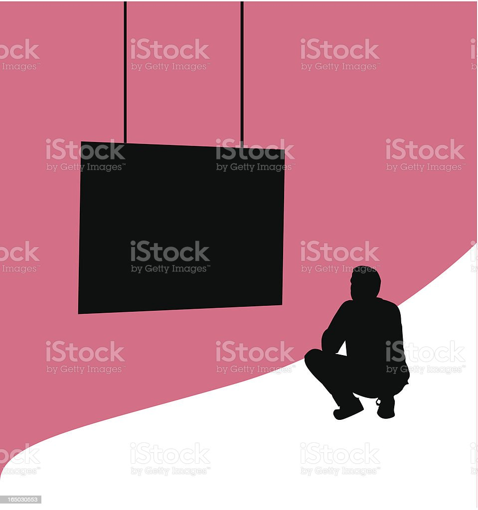 Intensely watching ( Vector ) royalty-free stock vector art