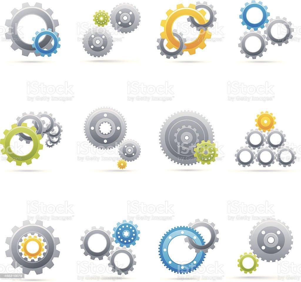 Interacting Gears royalty-free stock vector art
