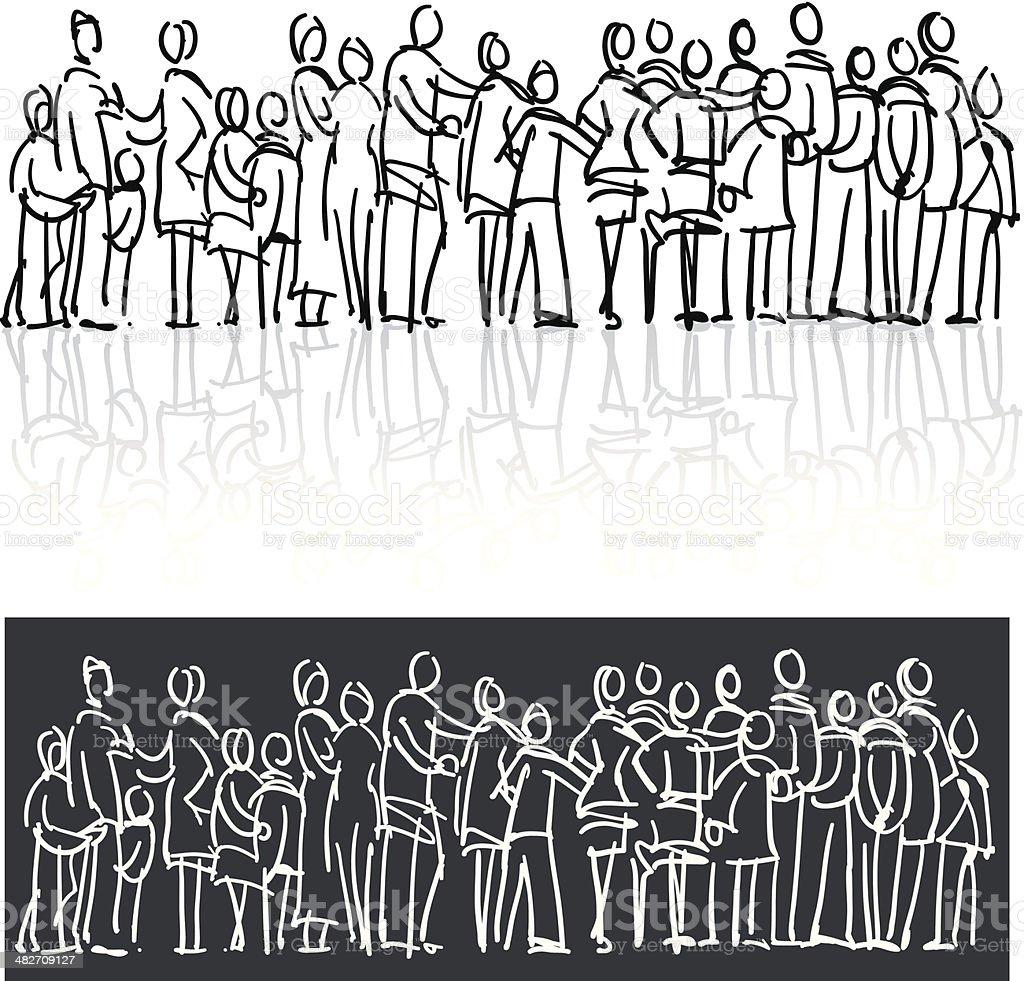 Interaction vector art illustration